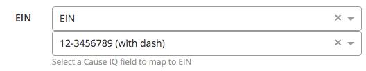 Salesforce EIN field mapping
